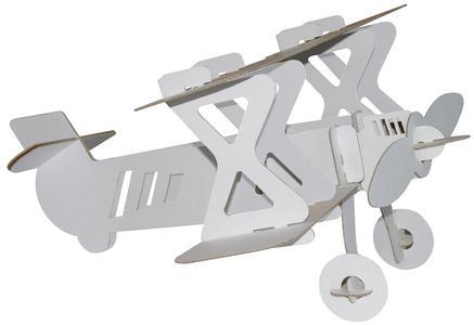 Aereo biplano bianco da colorare