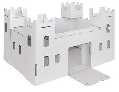 Castello piccolo bianco da dipingere