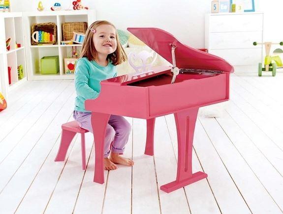 Pianoforte a Coda Allegro Rosa in Legno Naturale Hape - Offerta di Natale