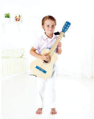 Chitarra in Legno per Bambini Colore Azzurro Hape Offerta di Natale