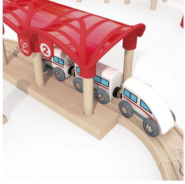 Set Ferrovia Treno Doppio Anello in Legno Hape - Offerta di Natale