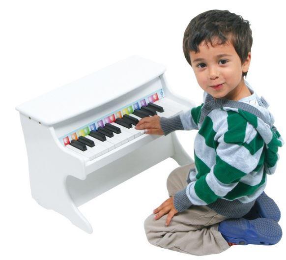 Pianoforte Bianco per Bambini in Legno di Legler Offerta di Natale