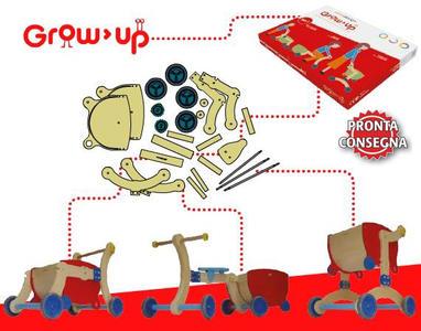 Girello Cavalcabile e Carrello in legno per Bambini Grow UP di Mishi Design Offerta di Natale