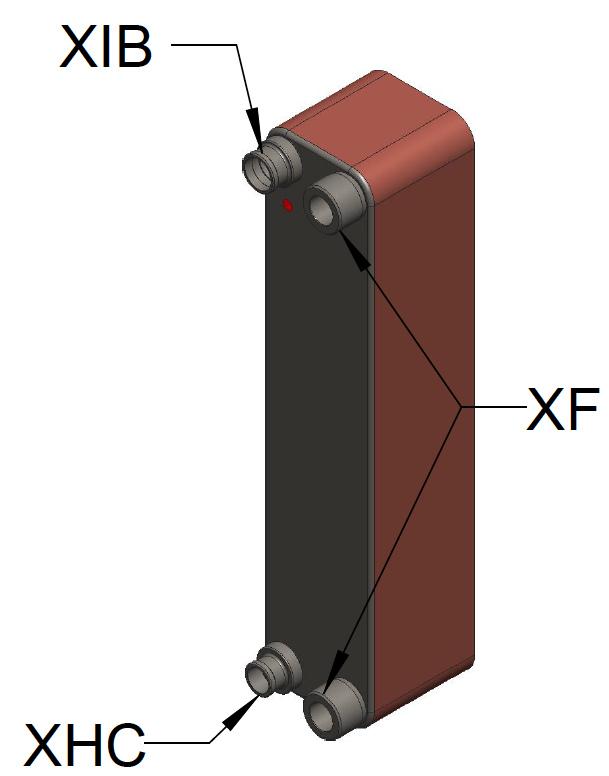 Kelvion Heat Exchanger model GBS525M-40