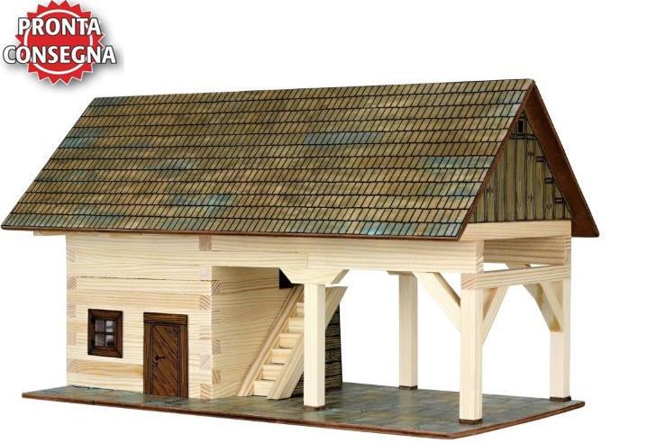Costruzioni in Legno Naturale la Rimessa Agricola di Walachia Kit da 131 Pezzi Offerta di Natale