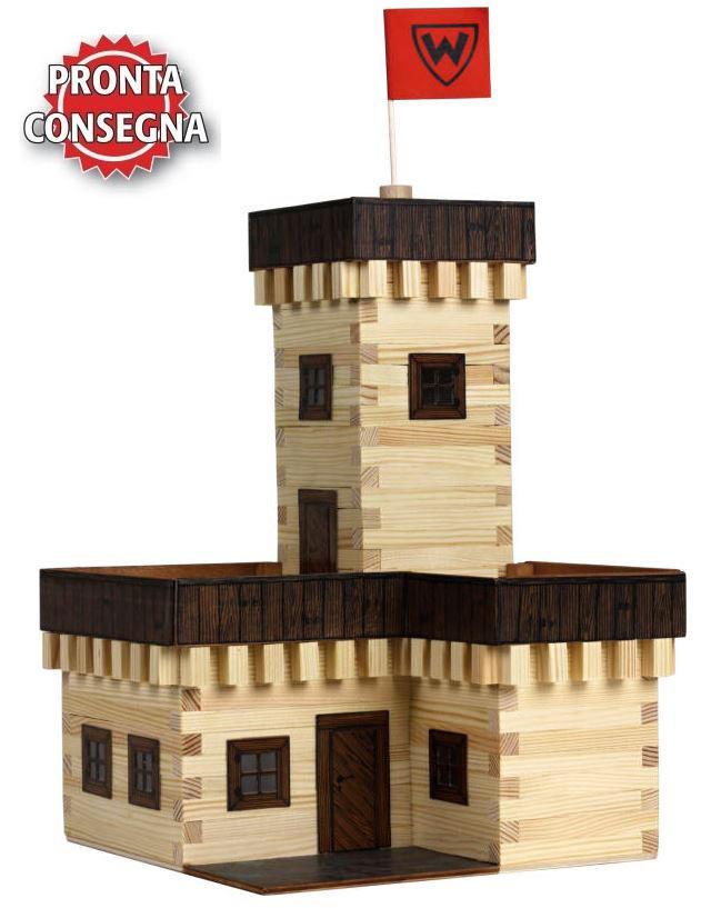 Costruzioni in Legno Naturale il Castello Estivo di Walachia Kit da 296 Pezzi Offerta di Natale