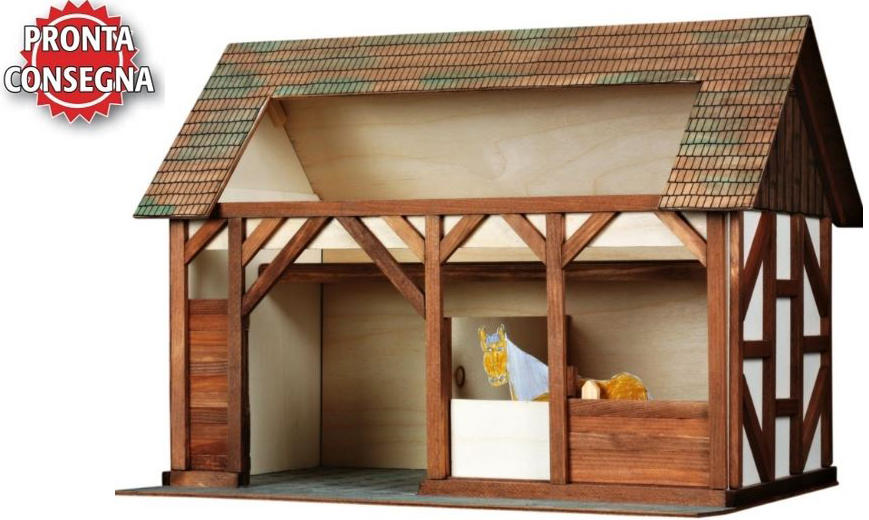 Costruzioni in Legno Naturale la Stalla di Walachia Kit da 194 Pezzi Offerta di Natale