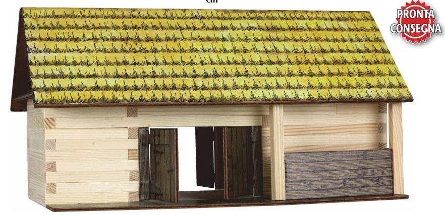 Costruzioni in Legno Naturale La Stalla di Walachia Kit da 86 Pezzi Offerta di Natale