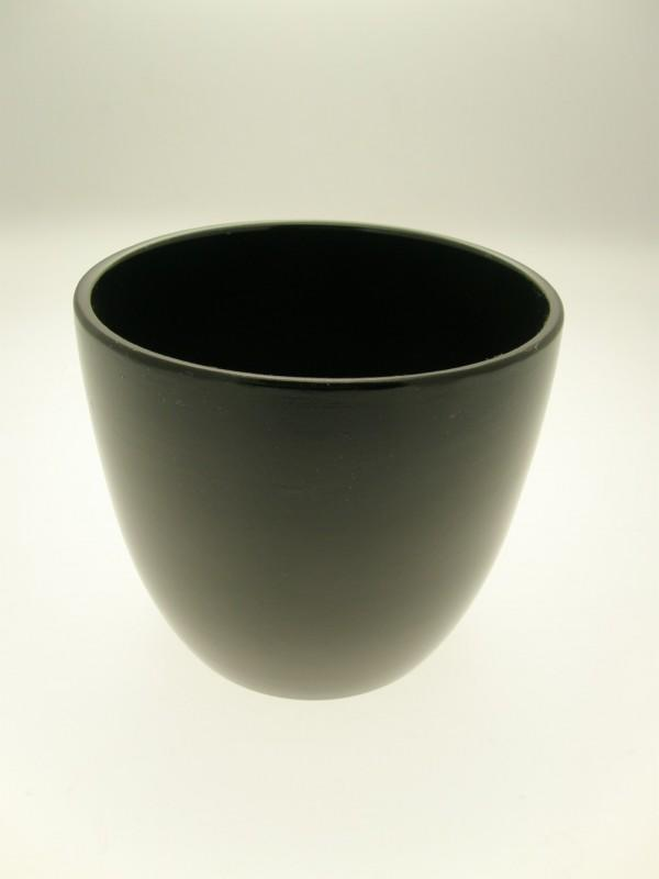 VASO Ø15 IN TERRACOTTA NERO