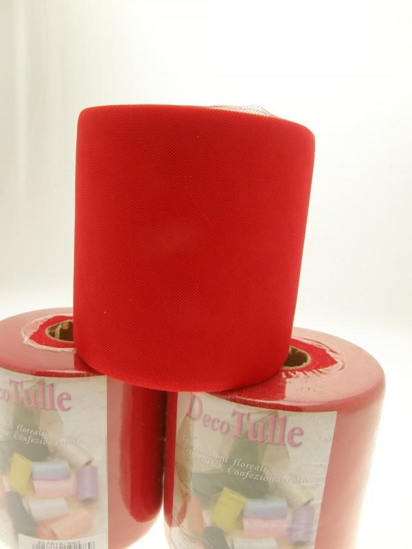TULLE 12,5 CM ROSSO