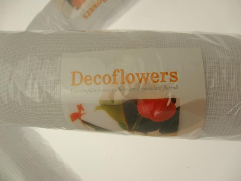 RETE DECOFLOWERS BIANCO