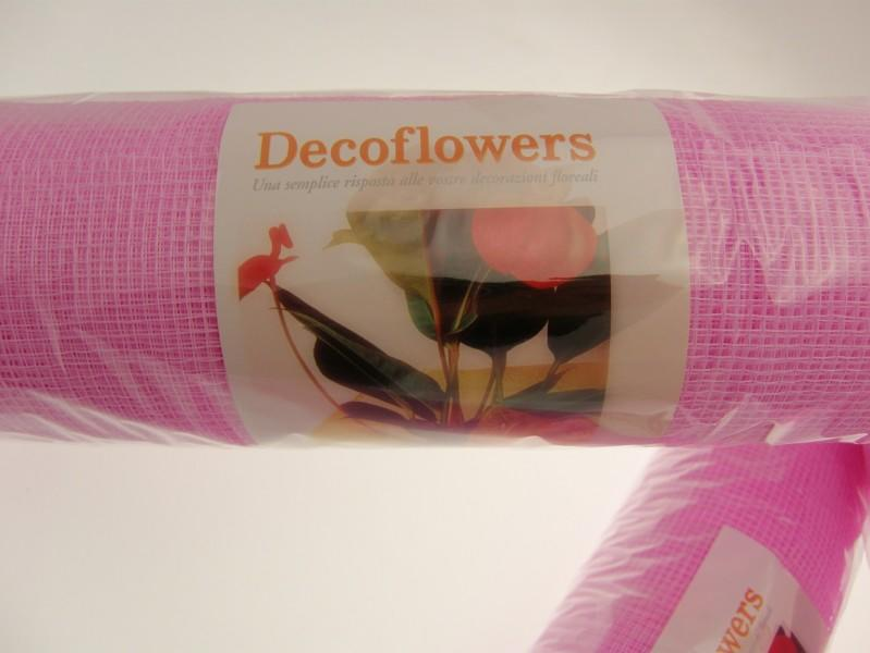 RETE DECOFLOWERS ROSA