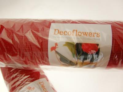 RETE DECOFLOWERS ROSSO