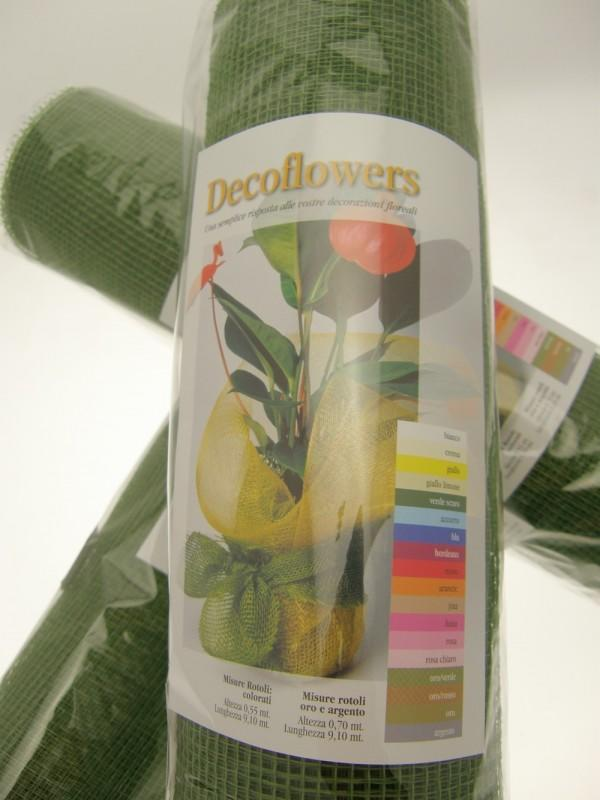 RETE DECOFLOWERS VERDE SCURO