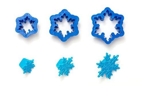 Set 3 tagliapasta stelle Frozen con imprimi decoro Decora
