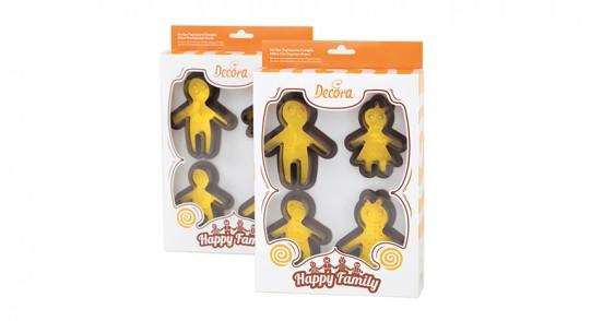 Set 4 tagliapasta famiglia felice con imprimi decoro decora - Home design decoro shopping ...