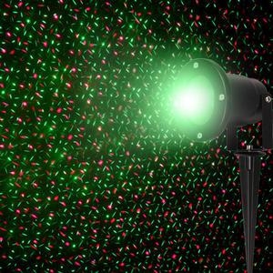Proiettore Luci LASER LED MAGIA DI STELLE colori rosso verde 9 giochi luce per interno esterno con supporto