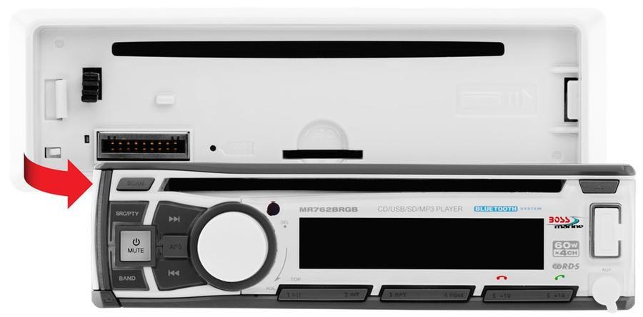Radio MR762BRGB con Bluetooth, App e Luce Multicolore di BOSS MARINE - Offerta di Mondo Nautica  24