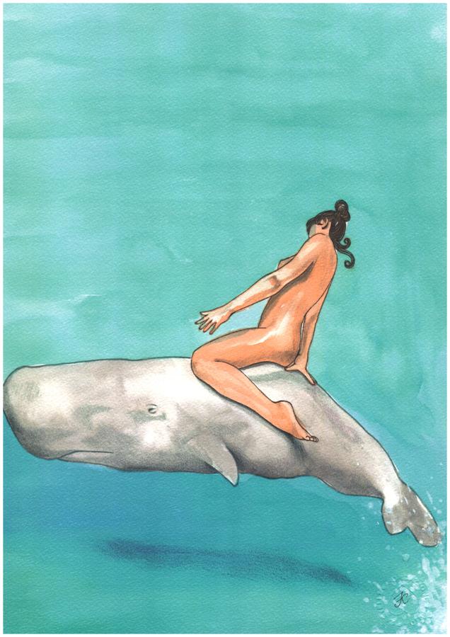 "Print ""Hai mai visto una balena?"""