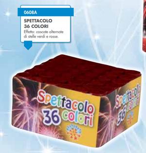 FUOCO D'ARTIFICIO BORGONOVO SPETTACOLO 36 COLORI