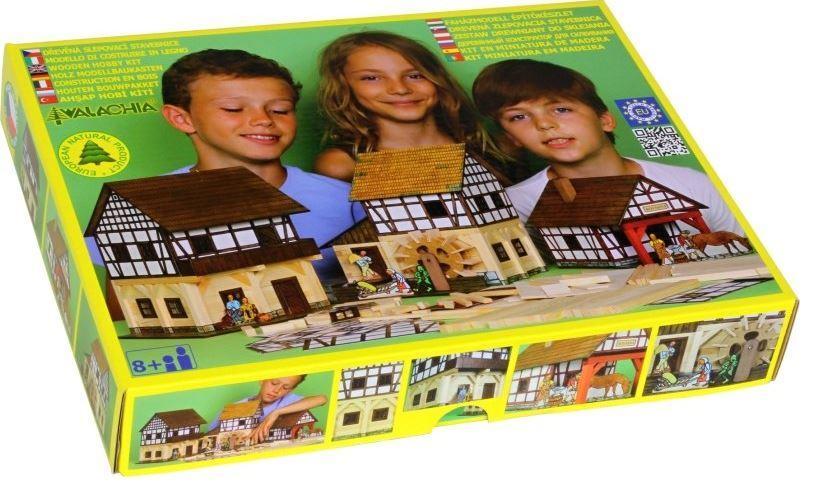 Costruzioni in Legno Naturale il Mulino a Vento + il Granaio di Walachia Kit da 137+115 Pezzi