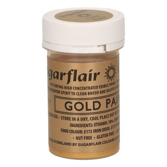 Vernice opaca commestibile oro 20 gr Sugarflair