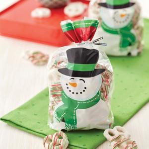 Set 20 sacchetti per dolcetti pupazzo di neve Wilton