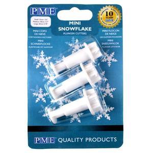 Set 3 stampi espulsione fiocco neve piccoli