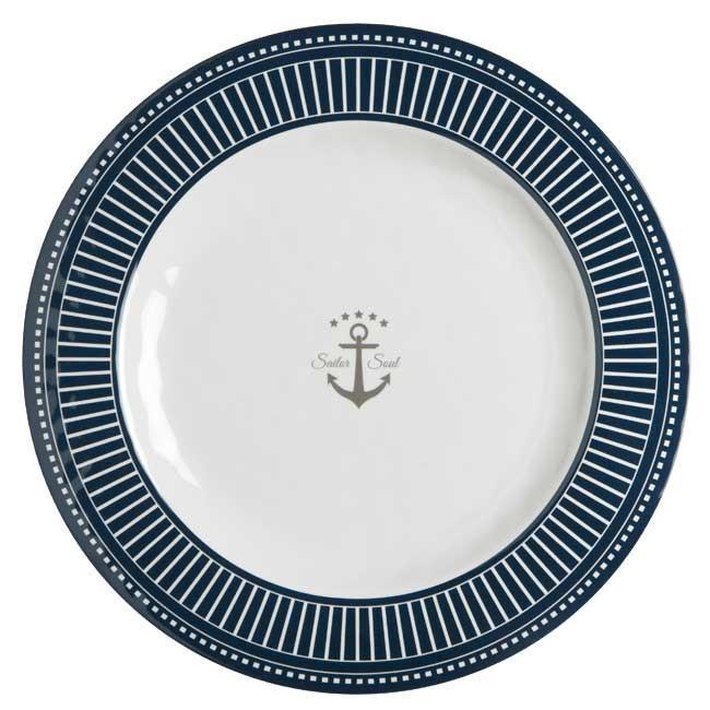 Piatto Piano Infrangibile in Melanina set 6 pezzi serie SAILOR SOUL di Marine Business - Offerta di Mondo Nautica 24