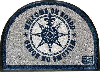 Tappetino Antiscivolo WELCOME ON BOARD a mezza luna di Marine Business - Offerta di mondo Nautica 24