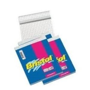 BLOCCO NOTES BRISTOL FORMATO  8X12 70 FOGLI QUADRI 5 MM