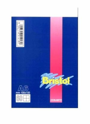 BLOCCO NOTES BRISTOL FORMATO  A6 60  FOGLI QUADRI 5 MM