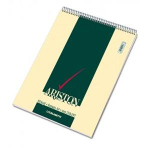 BLOCCO NOTES ARISTON CON SPIRALE FORMATO A4 60 FOGLI QUADRI 5 MM