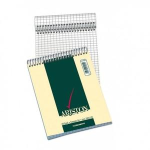 BLOCCO NOTES ARISTON CON SPIRALE FORMATO A6 60 FOGLI QUADRI 5 MM