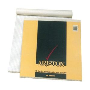 BLOCCO NOTES ARISTON FORMATO A4 70 FOGLI QUADRI 5 MM