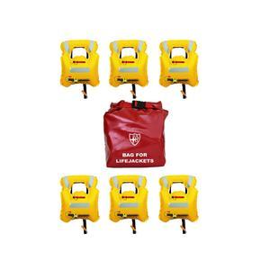 Kit da 6 Giubbotti di Salvataggio Sottovuoto 150N Gonfiabile AIR BAG SMART con Borsa  di Veleria San Giorgio - Offerta di Mondo Nautica 24