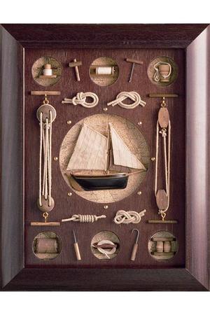 Quadro con Nodi e Barca di Artesania Esteban - Mondo Nautica 24