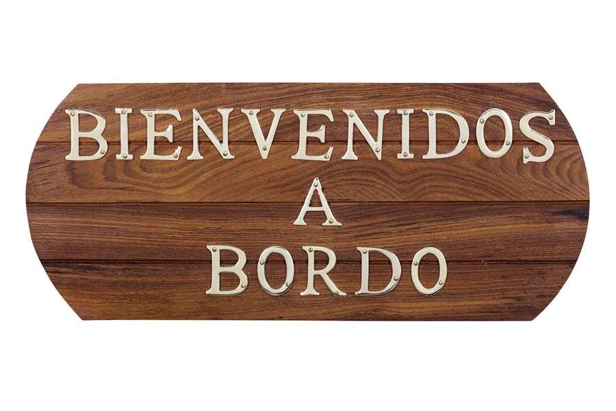 "Quadro ""Bienvenidos a Bordo"" di Artesania Esteban - Mondo Nautica 24"