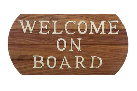 "Quadro ""Welcome On Board"" di Artesania Esteban - Mondo Nautica 24"