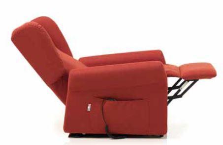 Poltrona Relax Stella Pronta Consegna completa di Alzapersona e Kit Roller 2 Motori Tessuto Lavabile Colore Bordeaux Sfoderabile Consegna 48 Ore PREZZO IVA AGEVOLATA 4%