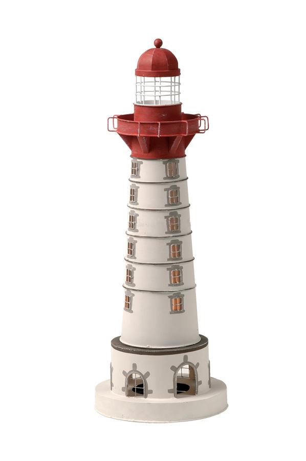 Lampada a forma di Faro di Saint Mathieu con Luce ( alto 50 cm. ) di Artesania Esteban - Mondo Nautica 24