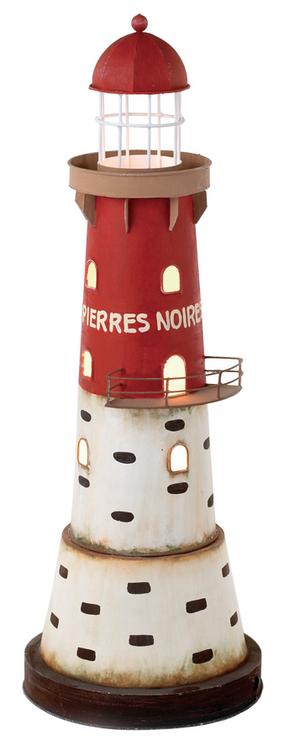 """Lampada a Forma di Faro di """"Les Pierres Noires"""" con Luce ( alto 51 cm. ) di Artesania Esteban - Mondo Nautica 24"""