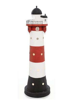 Modello di Faro Marino di Roter Sand con Luce ( alto 43 cm. ) di Artesania Esteban - Mondo Nautica 24