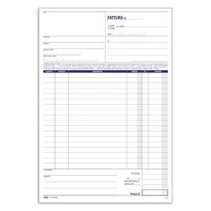 BLOCCO FATTURE 1 ALIQUOTA TRIPLICE COPIA 33X3 AUTORICALCANTE - BUFFETTI 6734C3033
