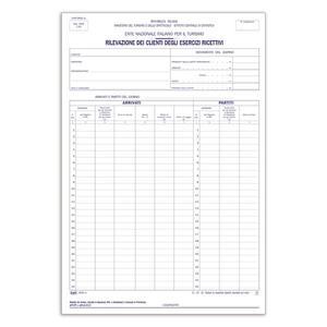 BLOCCO MODELLO C60 PER ALBERGHI DUPLICE COPIA 50X2 AUTORICALCANTE - BUFFETTI 6640C0000