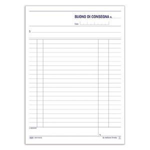 BLOCCO BUONI CONSEGNA TRIPLICE COPIA 33X3 AUTORICALCANTE - BUFFETTI 6557C0033