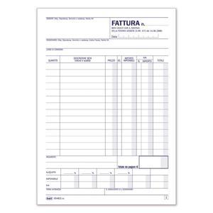 BLOCCO FATTURA TENTATA VENDITA - BUFFETTI 6548D2000