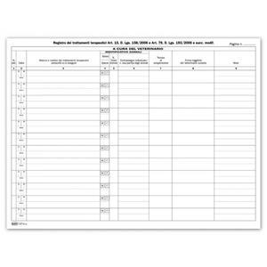 REGISTRO TRATTAMENTI TERAPEUTICI ANIMALI ARTICOLO 15 COPERTINA VERDE - BUFFETTI 2271N0100