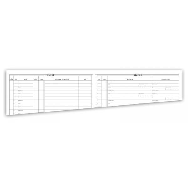REGISTRO CARICO - SCARICO ARMI 49 PAGINE NUMERATE - BUFFETTI 284201200