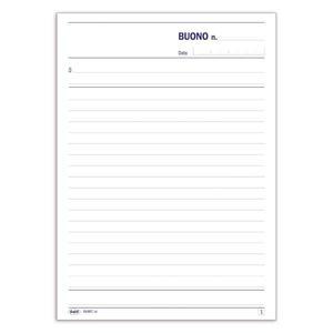 BLOCCO BUONI GENERICI DUPLICE COPIA 50X2 AUTORICALCANTE - BUFFETTI 6448C0000